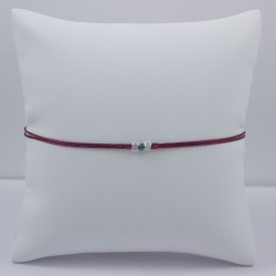Bracelet fil bordeaux Blue Star