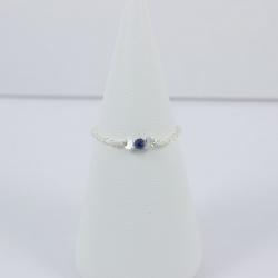 Saphir bleu anneau brillant Frozen Dark Blue Star