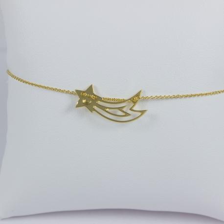 Bracelet étoile filante or - Les Curiosités d'Elixir