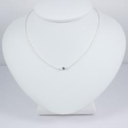 Collier chaine petit diamant bleu brut - Blue Star