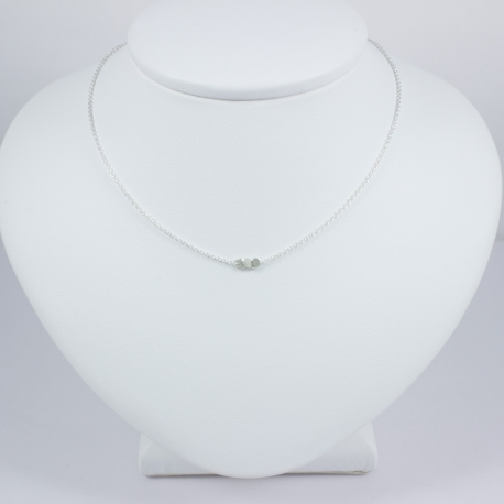 Collier diamant gris - Grey Star