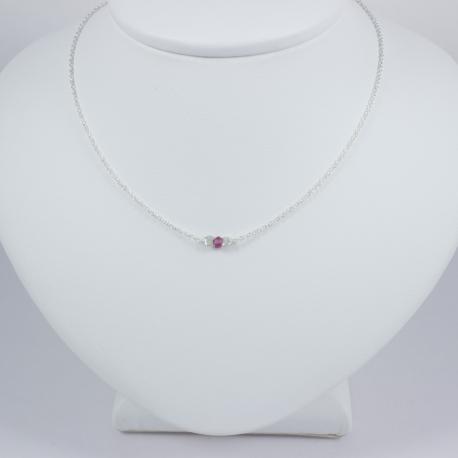 Collier saphir rose - Pink Star