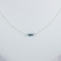 Collier chaine petit diamant bleu brut - Tiny Blue Galaxy