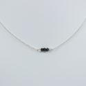 Collier chaine petit diamant noir brut - Tiny Black Galaxy