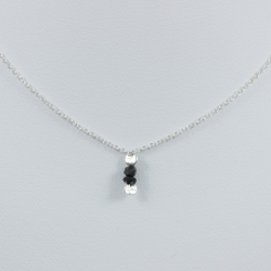 Collier chaine petit diamant noir brut - Drop Black Star