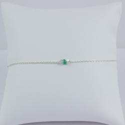 Bracelet émeraude Green Star