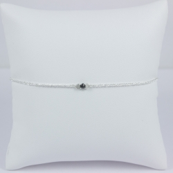 Bracelet diamant noir Frozen Black Star