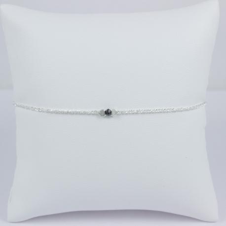 Bracelet diamant noir Frozen Black Star