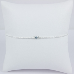 Bracelet diamant bleu Frozen Blue Star