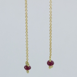 Pendants d'oreilles rubis Gold Star