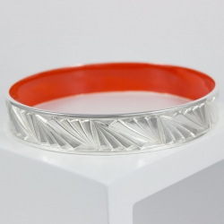 Bangles Argent interieur orange by LFDM