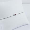 Bracelet rubis rhodié blanc Frozen Grey Red Star by LFDM