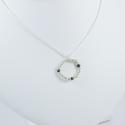 Collier perles argent et diamants noirs Circle Black Pearl by LFDM
