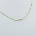 Collier doré or et 5 diamants gris by LFDM
