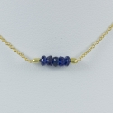Collier saphir bleu argent doré or Gold Constellation by LFDM