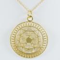 Collier mandala argent doré by LFDM - Collections Capsules