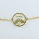 Bracelet flamant argent 925 doré by LFDM - Collections Capsules