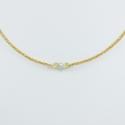 Collier diamant gris chaine scintillante or jaune Sun Grey Star