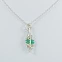 Collier argent rectangle et émeraudes by LFDM Fine Jewelry