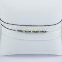 Bracelet triple tour perles rhodiées noires et saphirs jaunes chaine argent et rhodiée noire by LFDM Fine Jewelry
