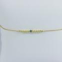 Bracelet perles argent doré or jaune et diamant bleu Gold Pearl Star by LFDM