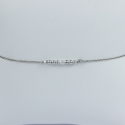 Bracelet perles rhodiées et une perle akoya keshi by LFDM Fine Jewels