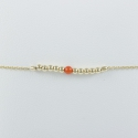 Bracelet corail et perles argent doré or champagne Light Gold Pearl Star by LFDM