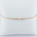 Bracelet Akoya et perles or rose Frozen pink pearl Star by LFDM