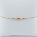 Bracelet corail et perles d'argent doré or rose by LFDM