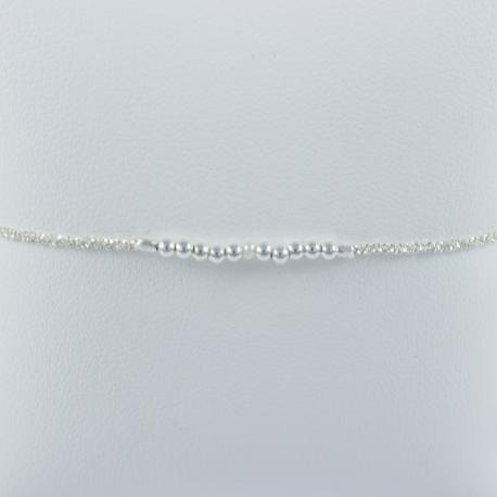 Bracelet perle d'eau de mer Akoya Keshi Frozen White Pearl Star by LFDM J.