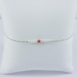 Bracelet corail et perles d'argent 925 Frozen Coral Star by LFDM Stones