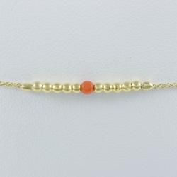 Bracelet corail et perles d'argent doré or jaune Gold Pearl Star by LFDM