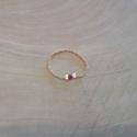 Bague chaine scintillante argent doré rose et rubis by LFDM Jewels