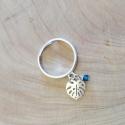 Bague feuille de Palmier argent et cristal de swaroski by LFDM Jewels