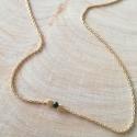 Collier diamant noir argent doré or jaune by LFDM Jewels