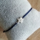 Bracelet cordon étoile zirconium et argent by LFDM Jewels