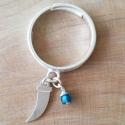 Bague corne argent 925 et cristal de Swaroski bleu tropical by LFDM Jewelry