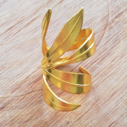Bague  feuille de laurier (5 feuilles) doré by LFDM Jewels