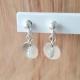 BO pampilles argent et diamant gris by LFDM Jewels