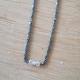 Collier diamant gris chaine scintillante noire by LFDM Jewels