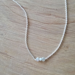Collier diamant blanc et argent 925 by LFDM Jewels