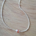 "Collier saphir orange ""padparadscha"" et argent by LFDM J."