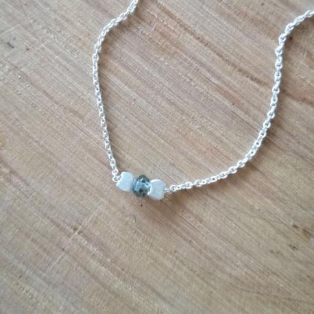 Collier saphir vert et argent by LFDM Jewelry