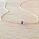 Collier saphir bleu argent doré or rose by LFDM Jewelry