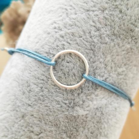 Bracelet cercle argent cordon bleu by LFDM Jewelry