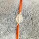 Bracelet madone argent et cordon orange by LFDM Jewels