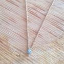 Collier goutte de diamant gris et chaine scintillante doré or champagne by LFDM Jewelry