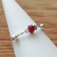 Bague rubis chaine boule argent 925 by LFDM Jewelry