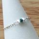 Bague diamant bleu chaine forçat ovale facettée by LFDM Jewellery