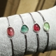 Bracelet tourmaline rose cut - cordon